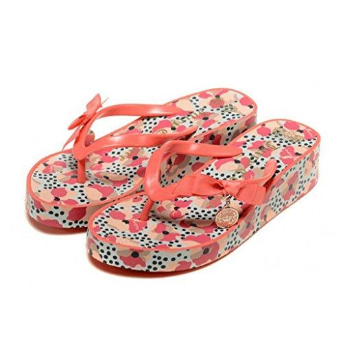 Version femmes Taille 240mm des Pantoufles estivales pour épaisses semelles à Couleur Orange ORANGE sandales la mode 36 à dERqw6Bw