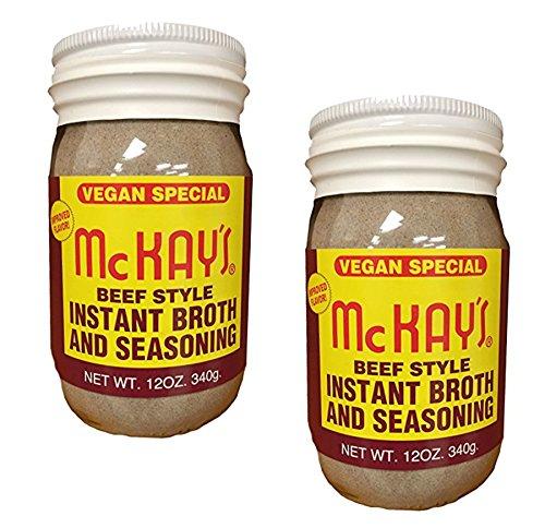 McKay's Beef Style Instant Broth And Seasoning Vegan Special 12 OZ Jar (2 Pack)