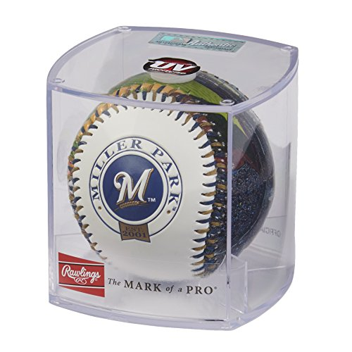 Rawlings MLB Milwaukee Brewers 05860006111MLB Stadium Baseball (All Team Options), Blue, One Size