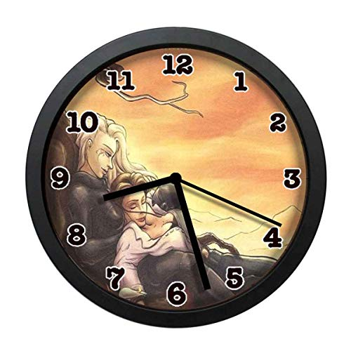 wojuedehuidamai6 Art Wall Clock- Love Wallpaper and Background Decor Wall Clock for Home and Office with 12in