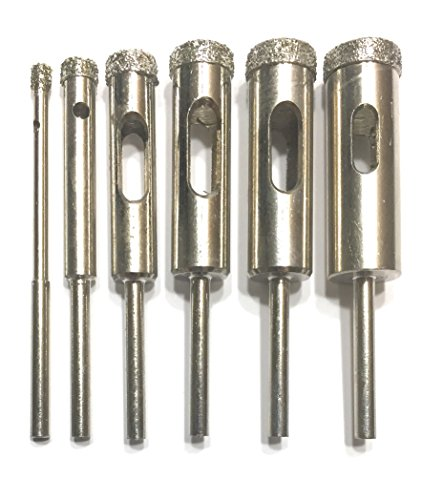 Diamond Core Bit Set for Dremel Tools for Glass and Tile | Beginner's Instructions Drilling Guide | Idea Guide | DCBSet by DrillGlass