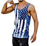 Gibobby Fashion Men Fitness Muscle Printed American Flag Stars Graphic Sleeveless Bodybuilding Undershirts Tnak Tops Vest