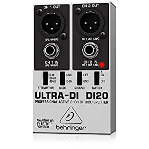 Behringer DI20 convertidor de audio - Conversor de audio (48V, 15 cm, 13 cm, 6 cm) Negro, Color blanco