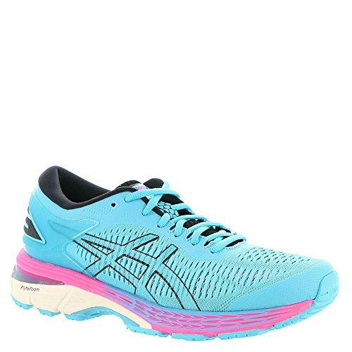 ASICS Gel-Kayano 25 Women's Running Shoe, Aquarium/Black, 9 B(M) US -