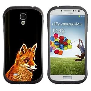 All-Round híbrido de goma duro caso cubierta protectora Accesorio Generación-I BY RAYDREAMMM - Samsung Galaxy S4 I9500 - Fox Red Ginger Fur Animal Forest Cunning Fairytale