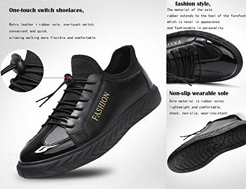 Décontractées Plates Hommes Chaussures Chaussures GNEDIAE GNEDIAE Décontractées Hommes Chaussures Noir K266 Plates Chaussures ftTvxT4w