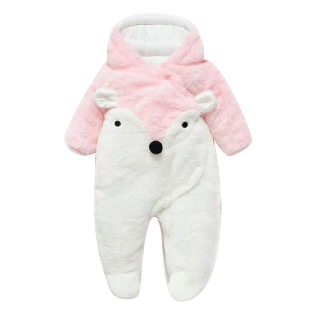 Baby Girl Toddlers Warm Body Suit Kids Autumn and Winter Clothing Newborn Romper Wadded Jumpsuit Set 13-18 Months Juleya Network technology Ltd P170901babyHY18816-J