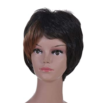 Gqy Womens Perücke Super Weiche Kurze Haare Perücke