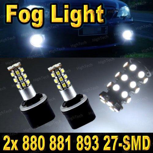 Pair Super White 880 27-SMD LED Headlight Bulbs For Driving Fog Light / Day Time Running Light DRL (Cross Reference: 881 / 886 / 894 / 896 / 898 / 893 / 885 / 890 / 892 / 899 )