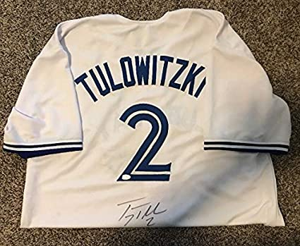 52a485f7f6f Image Unavailable. Image not available for. Color  Troy Tulowitzki Autographed  Signed Memorabilia White Toronto Blue Jays Jersey ...