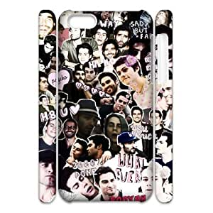 Hjqi - DIY Teen Wolf 3D Plastic Case, Teen Wolf Unique Hard Case for iPhone 5C