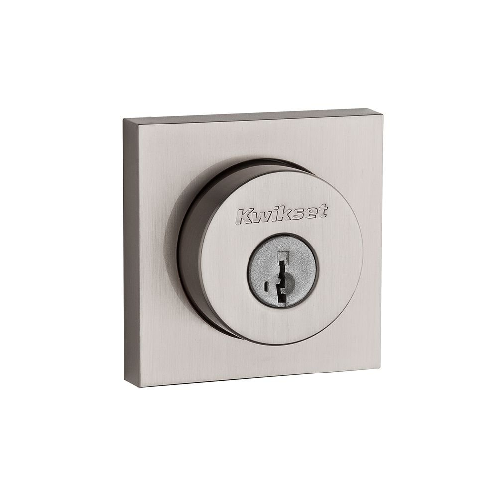 Kwikset 158 Square Single Cylinder Deadbolt Featuring Smartkey In