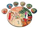Biblical Figures Seder Plate vasp2 by Yair Emanuel