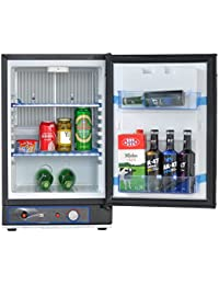 SMETA Freestanding Absorption Refrigerator Portable Beverage Cooler Propane /12V/ 110V