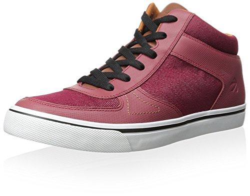 Burnetie Heren Skate Mid Casual Sneaker Rood