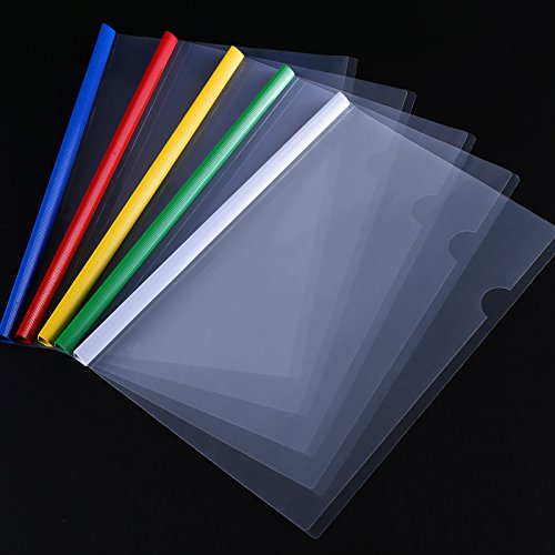 Shxstore Plastic Clear Sliding Bar File Folder Report