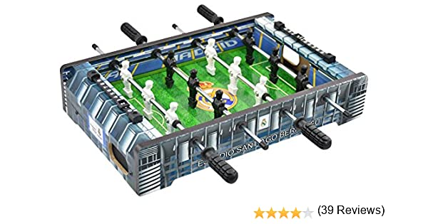 Real Madrid - Mini Futbolín Estadio Santiago Bernabéu, Multicolor (Proyectum Sport Team 10RMA-0000-1-2): Amazon.es: Juguetes y juegos