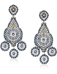 Opalite 3-Drop Chandelier Earrings