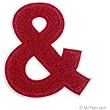 """4 1/2"""" Heat Seal Chenille Varsity Letter & - Red on White Sold by PCS"""