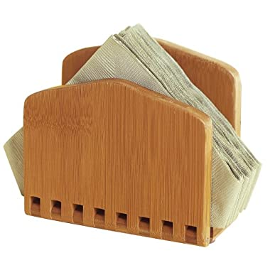 Lipper Bamboo Collection Adjustable Napkin Holder