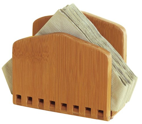 "Lipper International 8860 Bamboo Wood Adjustable Napkin Holder, 6-1/2"" x 3-1/4"" x 6"""