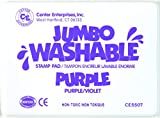 Center Enterprise CE5507 Jumbo Washable Stamp Pad, Purple
