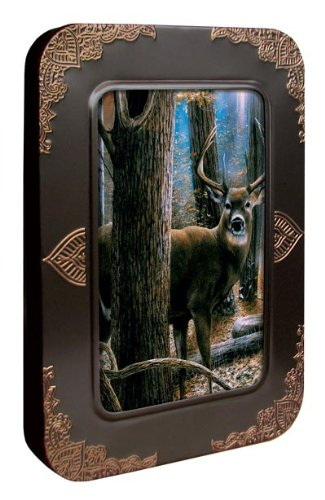 - Tree-Free Greetings Noteables Notecards In Reusable Embossed Tin, 12 Card Assortment, Recycled, 4 x 6 Inches, Woodland Sentry Buck, Multi Color (76000)