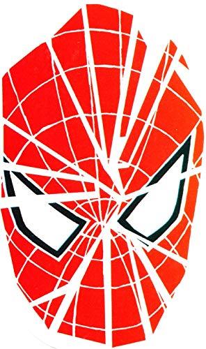 4 Inch Amazing Spider-Man Logo Decal Symbol Spiderman Marvel Comics Removable Peel Self Stick Adhesive Vinyl Decoration Wall Sticker Art Kids Room Home Decor Boys Nursery 2 1/2 by 4 inches Amazing Spider Man Peel