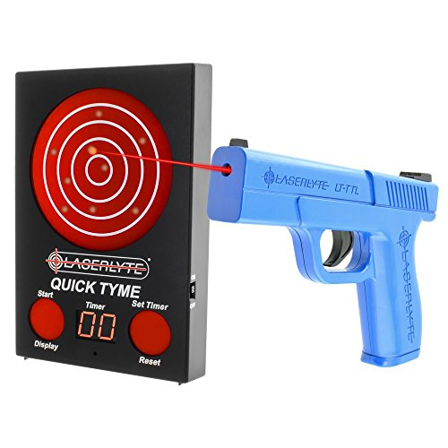 - LaserLyte Trainer Target Quick TYME with 62 LEDs That Light up Laser Trainer Pistol Full Size Glock 19 Familiar Size Weight and Feel RESETTING Trigger Training with This System Will Make You Better