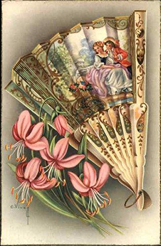 Casa Paez, Recuerdos Tipicos-Paraguas Abanicos-Cinturones Malaga, Spain Original Vintage Postcard