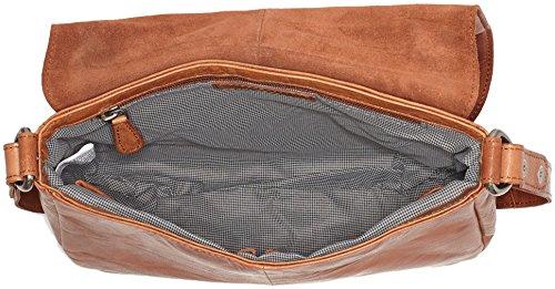 Spikes & Sparrow Flap Bag, Borse a tracolla Donna Marrone (Brandy)