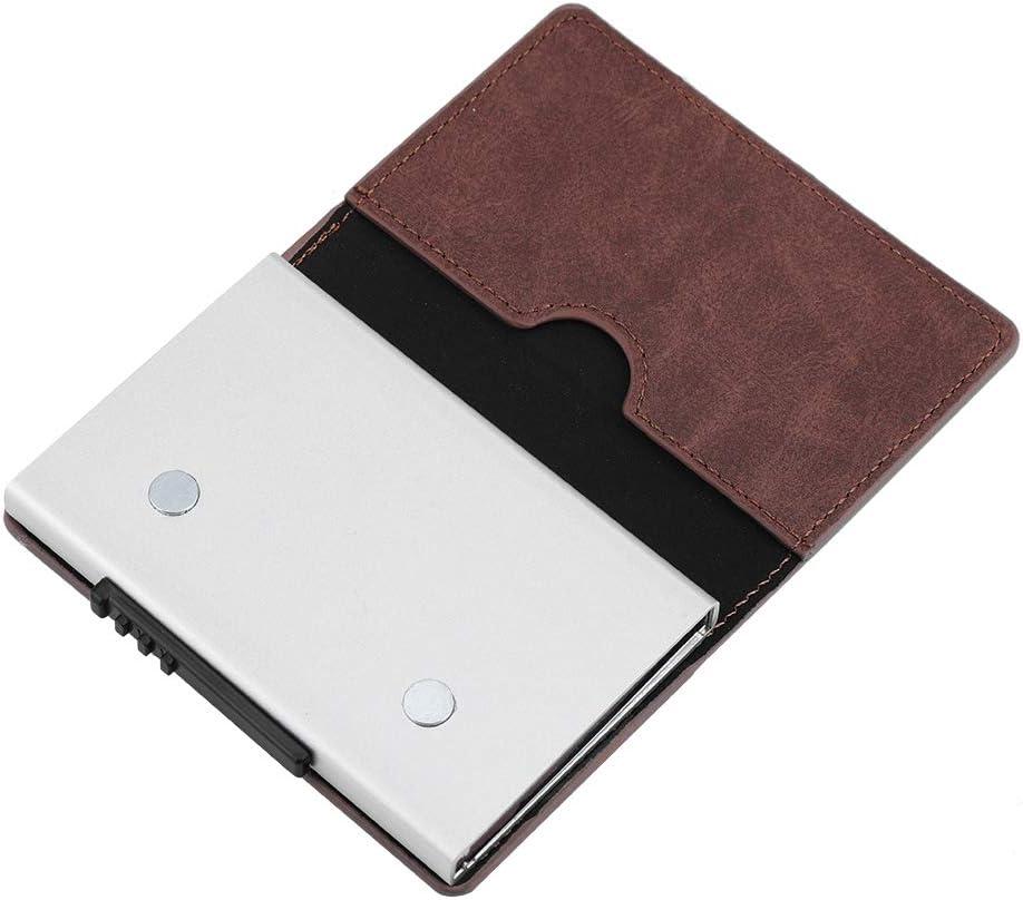 Black Zerone Aluminium Alloy ID Credit Card Holder Bank Cards Storage Box for Men