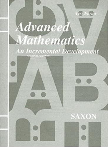 Amazon saxon advanced mathematics an incremental development saxon advanced mathematics an incremental development test forms 2nd edition fandeluxe Gallery