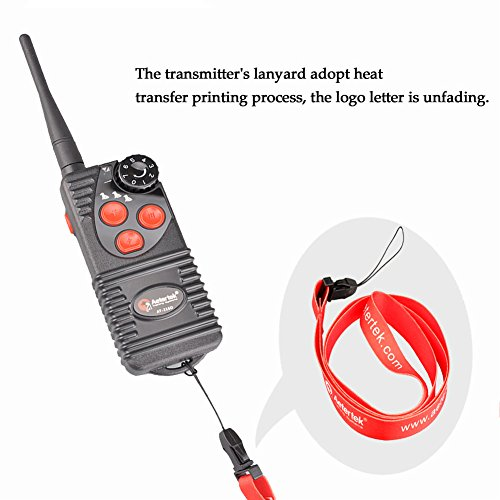 Aetertek Upgrade AT-216D 600 Yard Waterproof Rechargeable Remote Dog Training Shock Collar ,Beep ,Vibrate Stop Bark E Collar (For 2 dogs) by Aetertek (Image #4)