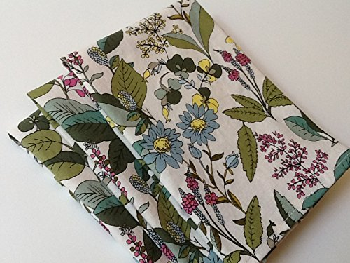 Botanical Green and Blue Floral, 12