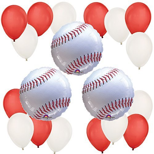 Big Dot of Happiness Batter Up - Baseball - Baby Shower or Birthday Party Balloon Kit]()