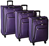 Review of American Tourister At Pops Plus 3 Piece Nested Set, Purple, One Size