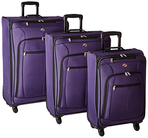 - American Tourister AT Pops Plus 3pc Nested Set 21 25/Spinner 29, Purple