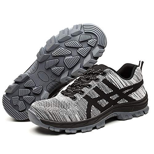 CHNHIRA Chaussures de S/écurit/é Homme Embout Acier Protection Confortable L/éger Respirante Unisexes Chaussures de Travail