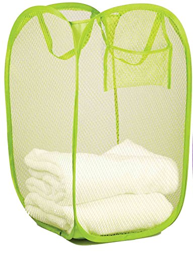 Sunbeam Pop Up and Collapsible Mesh Hamper (Green)