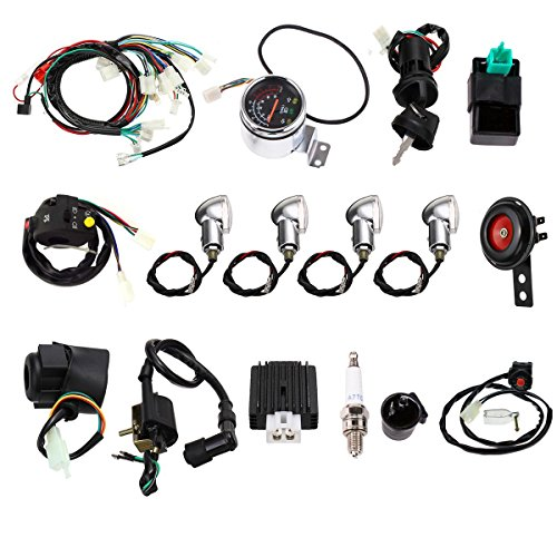 Annpee Full Electric Start Engine Wiring Harness Loom 110cc 125cc Quad Bike ATV Buggy