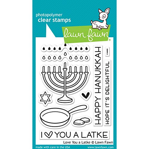 Lawn Fawn Clear Stamp Love You A Latke