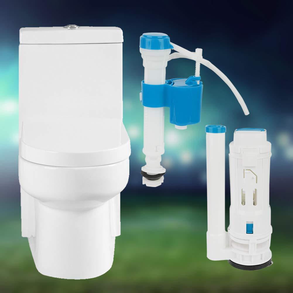 Reemplazo de Una Pieza V/álvula de Llenado de Inodoro Kit de Bot/ón Garosa V/álvulas de Descarga de Inodoro Cisterna de Inodoro Tanque de Agua V/álvula de Drenaje de Llenado de Doble Descarga