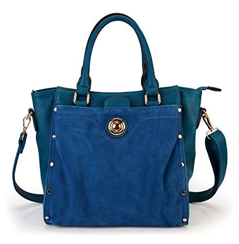rimen-co-womens-top-handle-pu-leather-zipper-closure-tote-handbag-bl-1611-teal