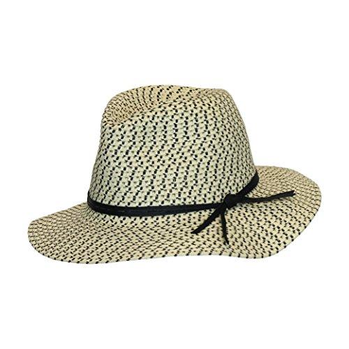 Light Natural Panama Sun Hat, Festival Summer Fedora, Floppy Brim, Leather Band