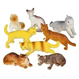 Rhode Island Novelty 12 Assorted Cats (2.5-inch PVC)