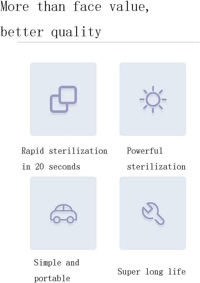 QDWRF UV Ultra-UV Germicide Portable Lampe de d/ésinfection Ordinateur de Poche UV St/érilisateur,Tue 99,9/% des germes de bact/éries de moisissure 20 Secondes Rapide st/érilisation Design /él/égant
