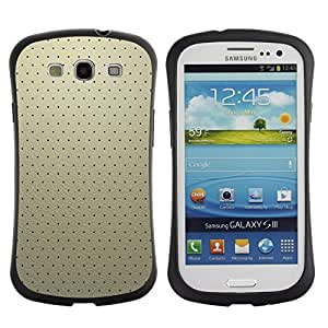 """Hypernova Slim Fit Dual Barniz Protector Caso Case Funda Para SAMSUNG Galaxy S3 III / i9300 / i747 [Simple patrón de 19""""]"""