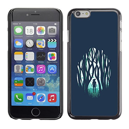 SuperStar // Refroidir image Étui rigide PC Housse de protection Hard Case Protective Cover for Apple Iphone 6 Plus 5.5 / Fille dans la forêt Emo /