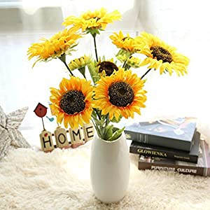 Gotian 74cm Artificial Fake Flowers Sunflower Floral Wedding Bouquet Party Home Decor 101